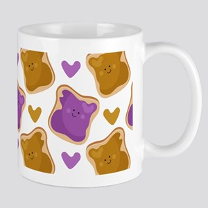 Kawaii PBJ Pattern Mug