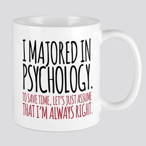 Majored in Psychology Mugs