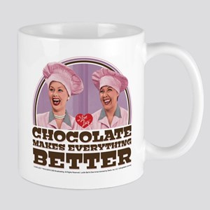 I Love Lucy: Chocolate Makes Everything Mug