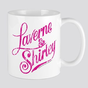Laverne and Shirley Pink Logo Mug