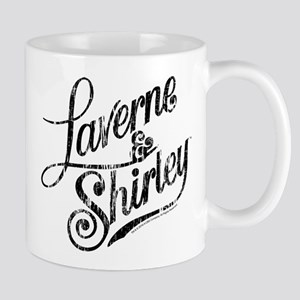 Laverne and Shirley Logo Black Mug