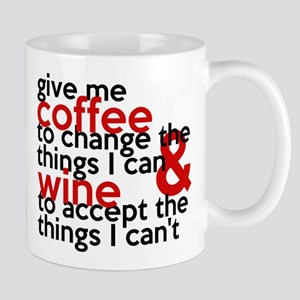 Give Me Coffee And Wine Humor Mug