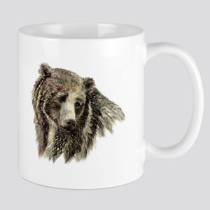 Watercolor Grizzly Bear Animal Nature Art Mugs