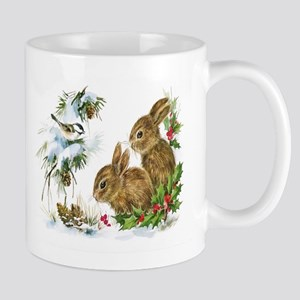 Christmas-Bunnies-Vintage- Mugs