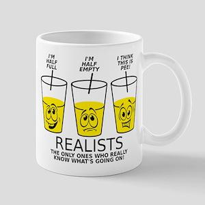 d55f3c4a Glass Half Full Empty Pee Funny T-Shirt Mug