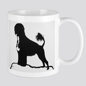 Portuguese Water Dog Sillhouette on rocks Mug
