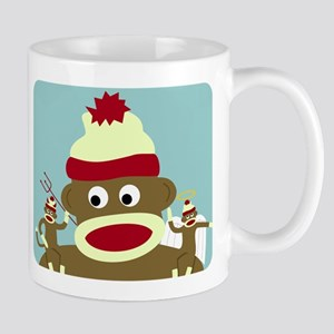 Sock Monkey Angel Devil Good Evil Coffee Mug