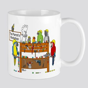 The Parrot's Workshop Logo Mugs
