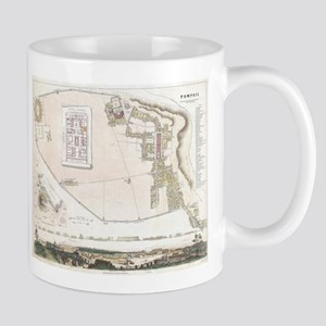Vintage Map of Pompeii Italy (1832) Mugs