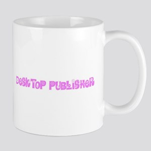 Desktop Publisher Pink Flower Design Mugs
