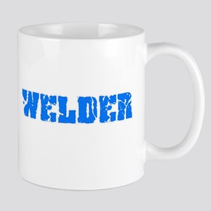 Welder Blue Bold Design Mugs