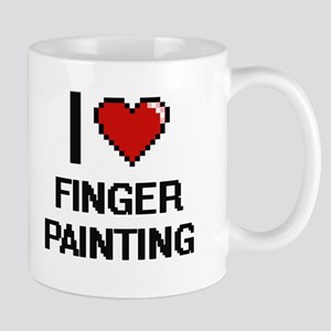 I love Finger Painting digital design Mugs