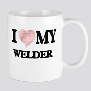 I love my Welder (Heart Made from Words) Mugs