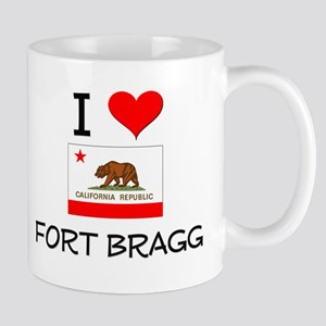 I Love Fort Bragg California Mugs