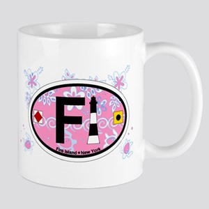 Fire Island - Oval Design Mug