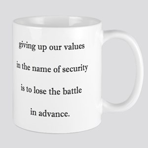 values and security Mugs