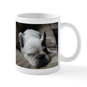 Pied French Bulldog Mugs