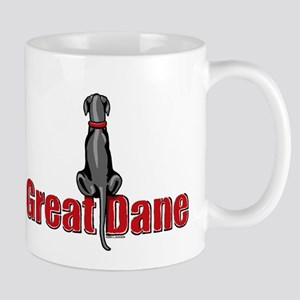 Black Great Dane UC Sit Mug