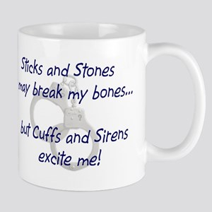 cuffs and sirens Mugs