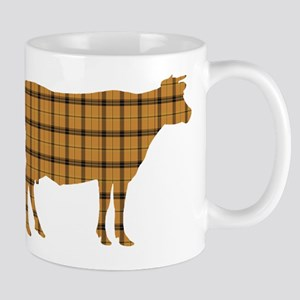 Cow: Orange Plaid 11 oz Ceramic Mug