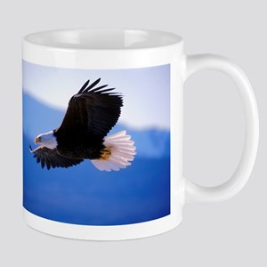 Bald Eagle flying 11 oz Ceramic Mug