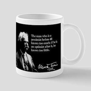 Mark Twain Pessimissm Mug