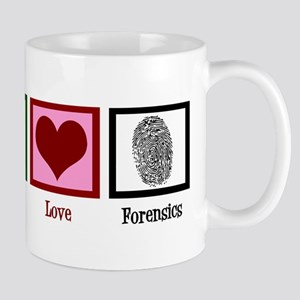 Peace Love Forensics Mug