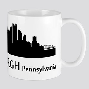 Pittsburgh Cityscape Skyline Mugs