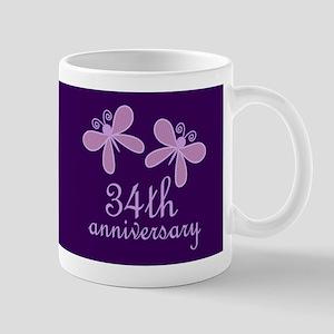 34th Anniversary Keepsake Mugs