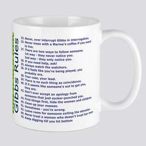List of Gibbs Rules Blue/Green Mugs