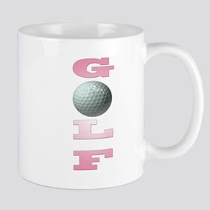 golfpink copy Mugs