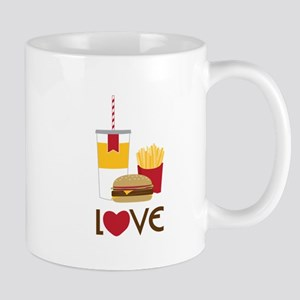 Love Fast Food Mugs