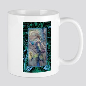 Mermaid and Seahorse Fantasy Art Mug