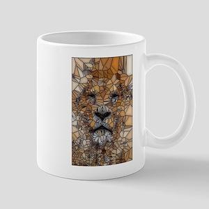 Lion mosaic 001 Mugs
