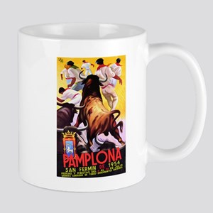 Vintage Pamplona Spain Travel Mugs