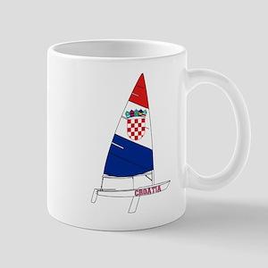 Croatia Dinghy Sailing Mug