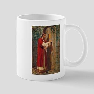 Jesus Knocks On The Door Mugs