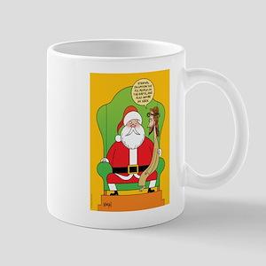 Santa & Jesus Mug