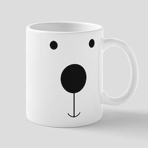 Minimalist Polar Bear Face Mugs
