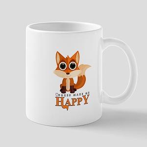 Foxes Make Me Happy Mugs