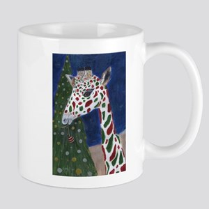 Christmas Giraffe Mugs