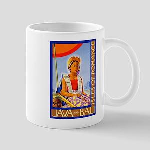 Java Travel Poster 2 Mug