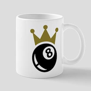 Eight ball billiards crown Mug