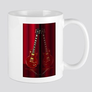 Red Guitar Reflections Mugs