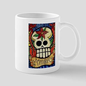 Amor Day of the Dead Skull Mugs