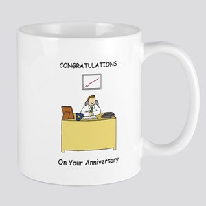 Work anniversary congratulations for male. Mugs