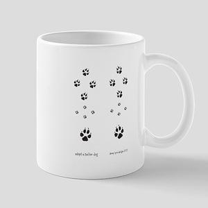 Paw Print Dog Adoption2 Mug