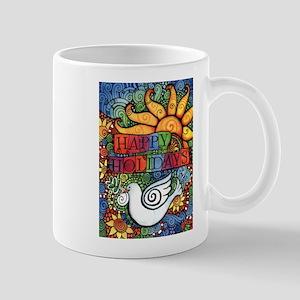 Happy Holidays Christmas Peace D 11 oz Ceramic Mug