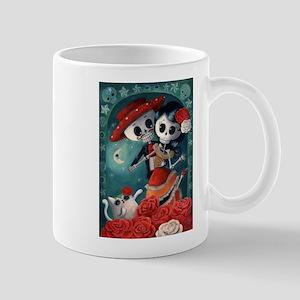 Dia de Los Muertos Mexican Lovers Mugs