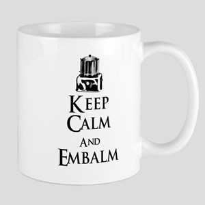Keep Calm and Embalm Light Mugs